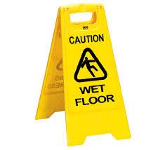 Folding Floor Sign